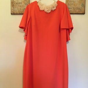 Calvin Klein Ruffle Orange Dress